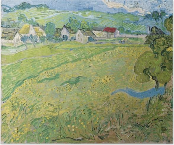 Poster Vincent van Gogh - Vue de Vessenots près d'Auvers - Reproductions