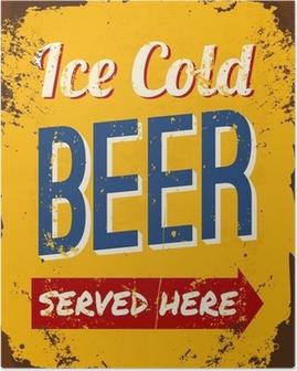 Vintage Beer Tin Sign Poster