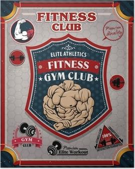 Vintage Fitness Gym poster design Poster