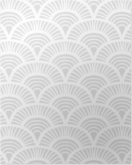 Vintage hand drawn art deco pattern Poster