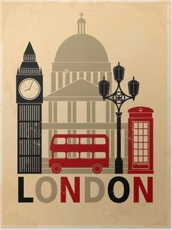 Poster Vintage Londres affiche