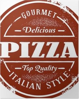 Vintage Pizza Menu Stamp Poster
