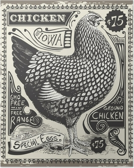 Póster Vintage Poultry and Eggs Advertising Page