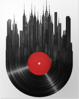 Poster Vinyl stad