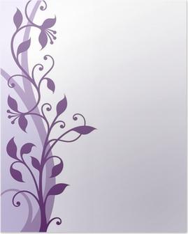 Violet flowers Poster
