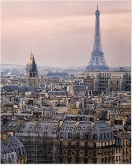 Poster Vue de Paris et de la Tour Eiffel d'en haut