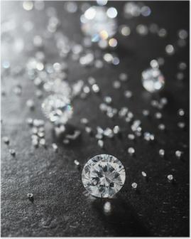 Poster Waardoor diamanten op het oppervlak van de steen up.