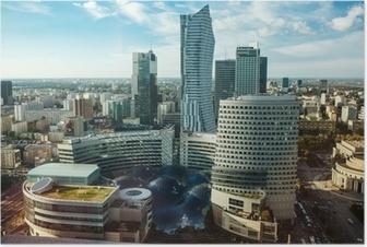 Poster Warsaw view