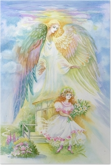 Watercolor Angel Poster