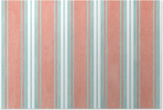 Watercolor blue and pink striped background. Poster
