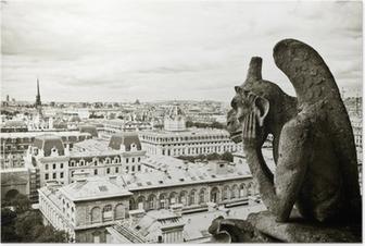 Poster Waterspuwer Notre-Dame de Paris