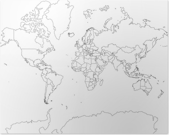 Weltkarte world map outline poster pixers we live to change weltkarte world map outline poster outer space gumiabroncs Choice Image