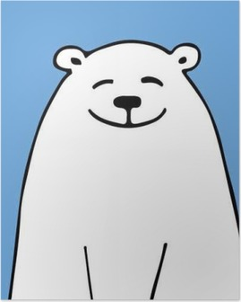 White bear, sketch for your design Poster