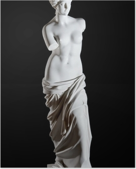 "White marble classic statue ""Aphrodite of Milos"" isolated Poster"