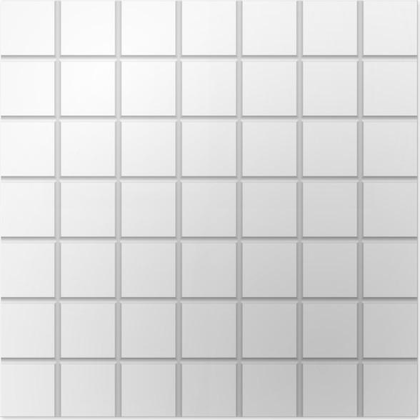 White Square Ceramic Tiles Texture Poster