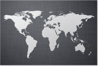 White world map. Poster