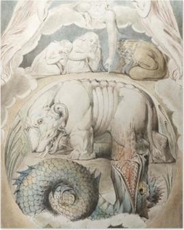 Poster William Blake - Behemoth en Leviathan