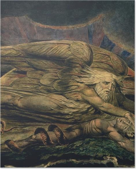 Poster William Blake - Elohim créant Adam - Reproductions