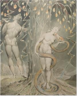Poster William Blake - Eva verleid door de slang