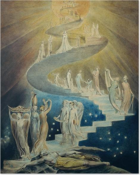 Poster William Blake - l'échelle de Jacob - Reproductions