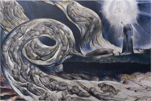 Poster William Blake - La Tourmente des amants - Reproductions
