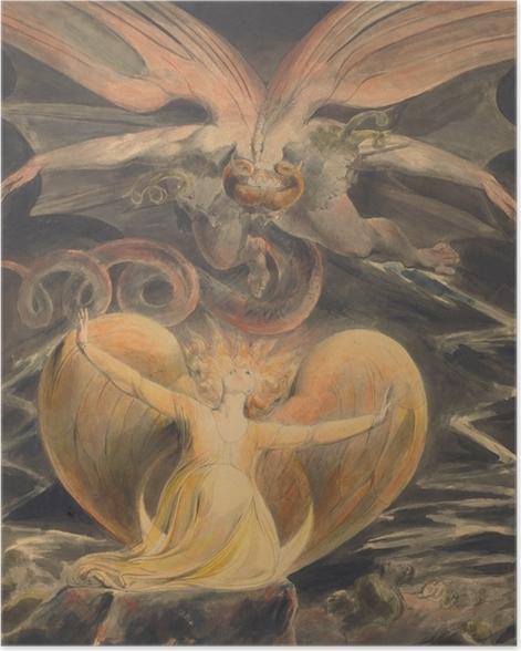 Poster William Blake - Le grand Dragon Rouge et la Femme vêtue de soleil - Reproductions