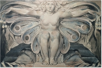 Poster William Blake - Personnification du tombe