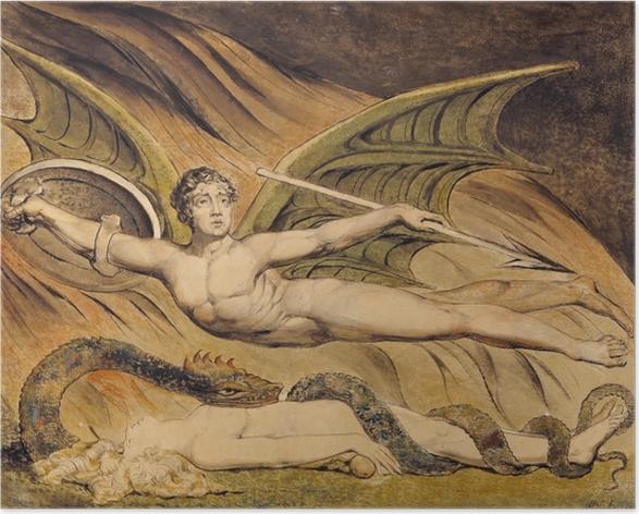 Póster William Blake - Satanás Exulting sobre Eva - Reproducciones