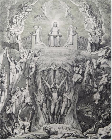 Poster William Blake - Une vision du Jugement dernier, - Reproductions