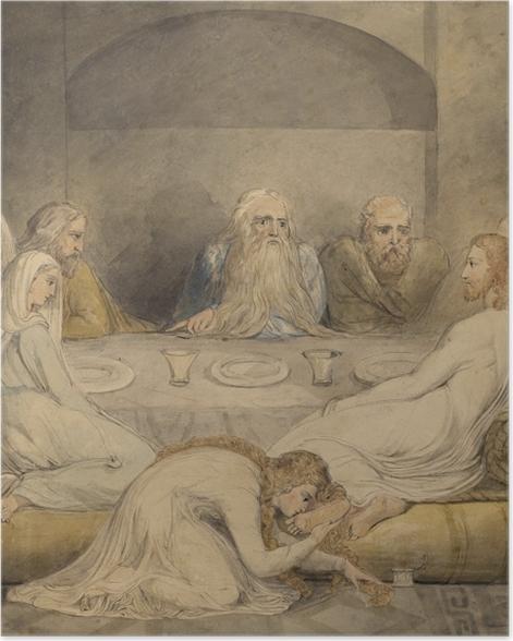 Póster William Blake - Unge a Jesús una mujer Sinfil - Reproducciones