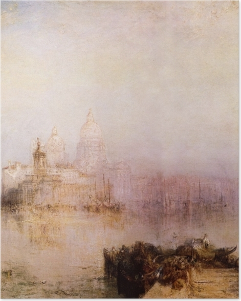 Poster William Turner - Dogana et Madonna della Salute - Reproductions