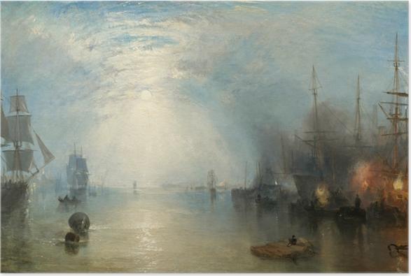 William Turner - Keelmen Heaving in Coals by Moonlight Poster - Reproductions