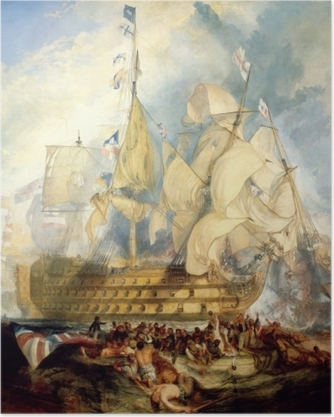 Poster William Turner - La bataille de Trafalgar - Reproductions