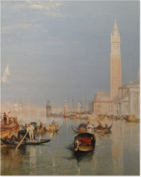 Poster William Turner - La Dogana - San Giorgio - Reproductions