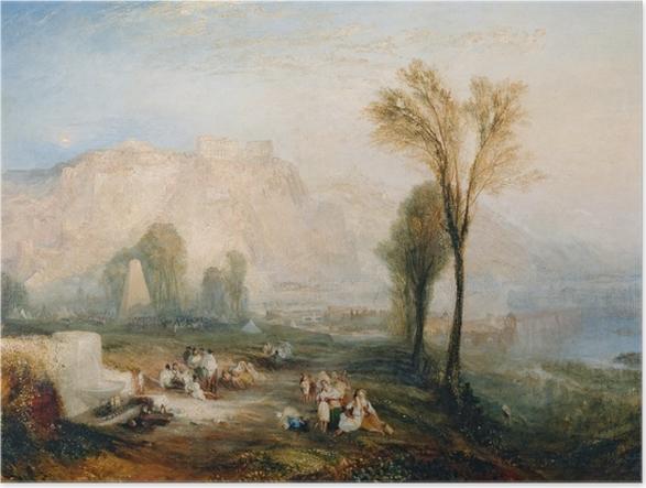 Póster William Turner - La piedra brillante del honor (Ehrenbreitstein) y Tumba de Marceau a partir de Byron 'Childe Harold' - Reproducciones
