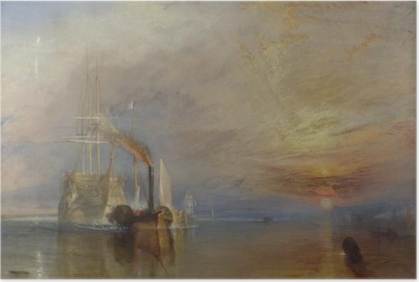 Poster William Turner - Le Dernier Voyage du Téméraire - Reproductions