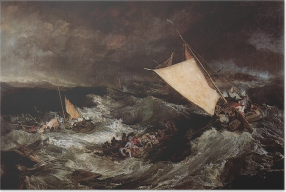 Poster William Turner - Le Naufrage - Reproductions