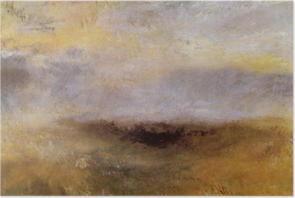 Poster William Turner - Morceau de mer avec un orage surgissant - Reproductions