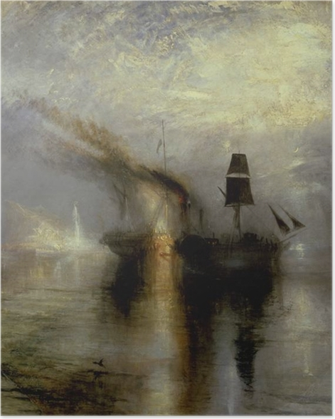 Poster William Turner - Paix - Funérailles en mer - Reproductions