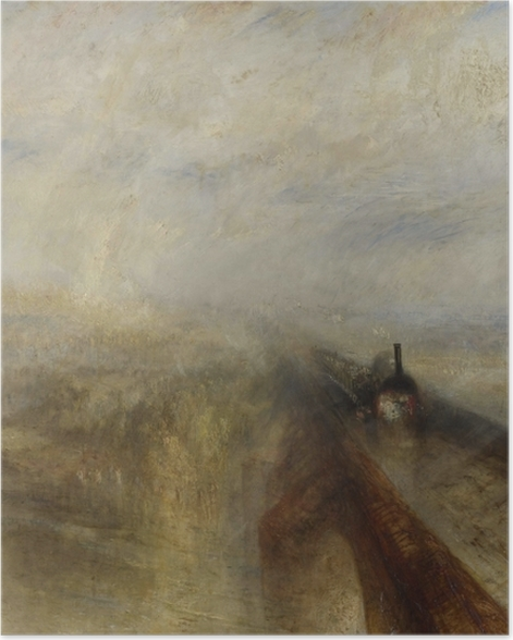 Poster William Turner - Pluie, Vapeur et Vitesse - Reproductions