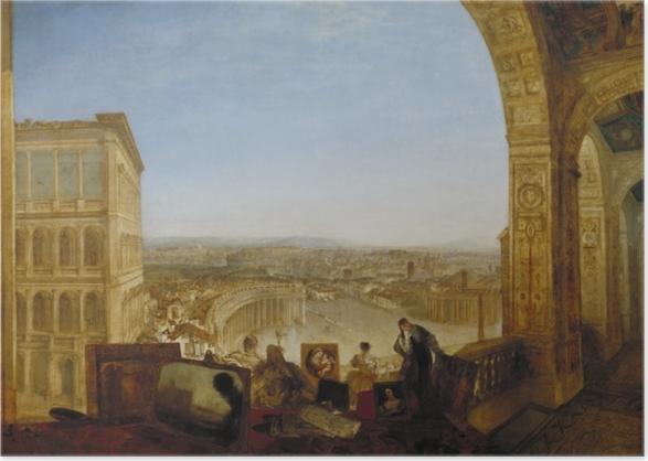 Poster William Turner - Rome vue du Vatican - Reproductions