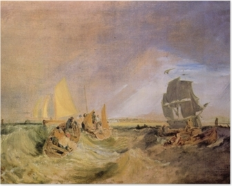 William Turner - Shipping at the Mouth of Thames Poster