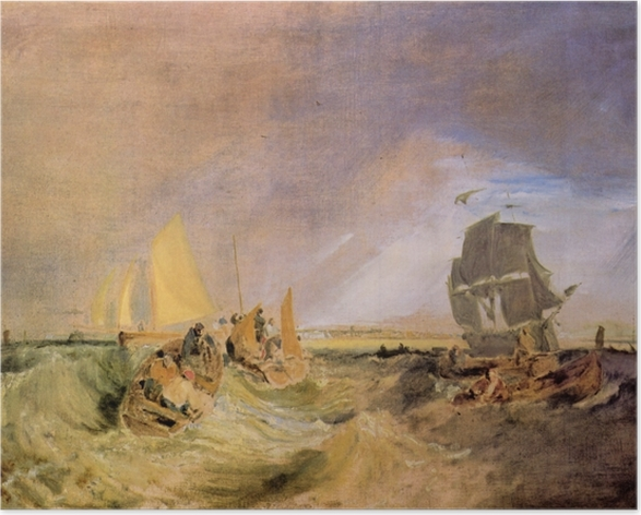 Poster William Turner - Shipping at the Mouth of the Thames - Reproductions