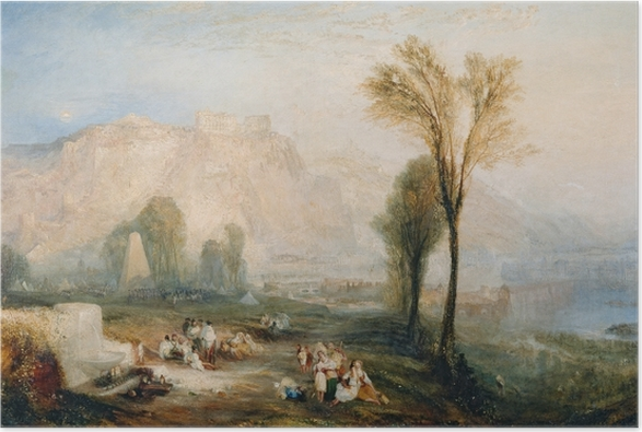 William Turner - The Bright Stone of Honor (Ehrenbreitstein) and Tomb of Marceau from Byron's 'Childe Harold' Poster - Reproductions