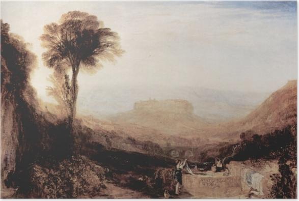 Poster William Turner - Vue d'Orvieto, paint à Rome - Reproductions