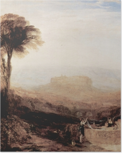 Poster William Turner - Vue d'Orvieto, paint à Rome - Reproductions