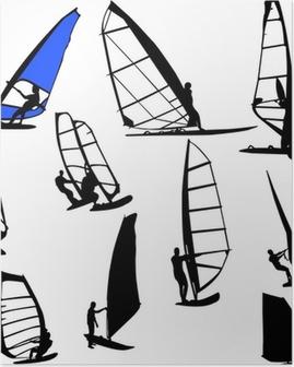 Poster Windsurfen vector