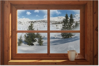 Poster Winterlandschap