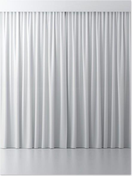 Poster Witte gordijnen • Pixers® - We leven om te veranderen