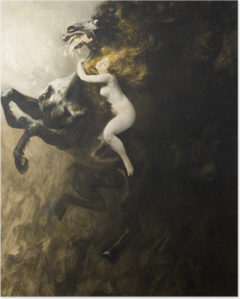 Poster Władysław Podkowiński - L'ivresse de l'extase - Reproductions